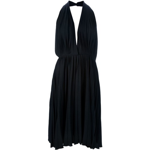 YVES SAINT LAURENT VINTAGE Sleeveless Pleated Dress