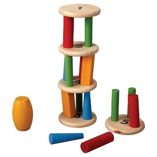PlanToys Plan Preschool Tower Tumbling Game and Puzzle