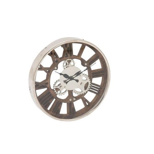 Enthralling Stainless Steel Wood Aluminum Wall Clock