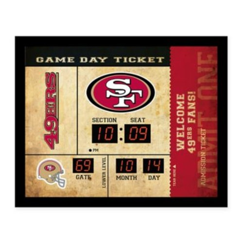 NFL San Francisco 49ers Bluetooth Scoreboard Wall Clock