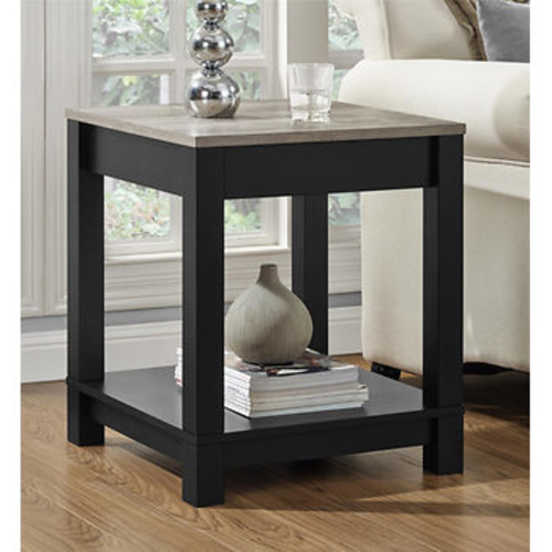 Altra Carver End Table - Black/Sonoma Oak