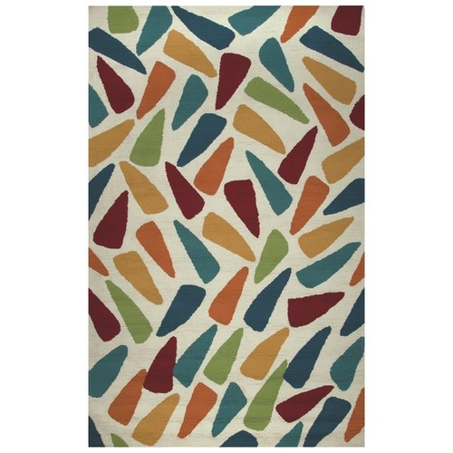Rizzy Home Azzura Hill Collection Multi-Colored Geometric Accent Rug (2' x 3')