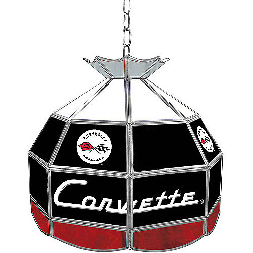Trademark Corvette C1 16-Inch Diameter Stained Glass Tiffany Lamp