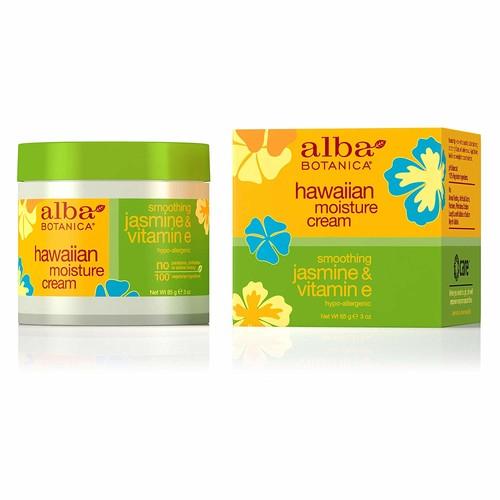 Alba Botanica Hawaiian Moisture Cream, Soothing Jasmine & Vitamin E 3 oz [1]