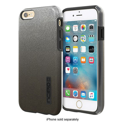 Incipio - DualPro Glitter Hard Shell Case for Apple iPhone 6 Plus and 6s Plus - Black