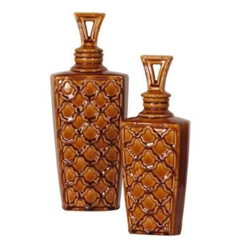 Howard Elliott 13.5-16H in. Textured Jars - Set of 2