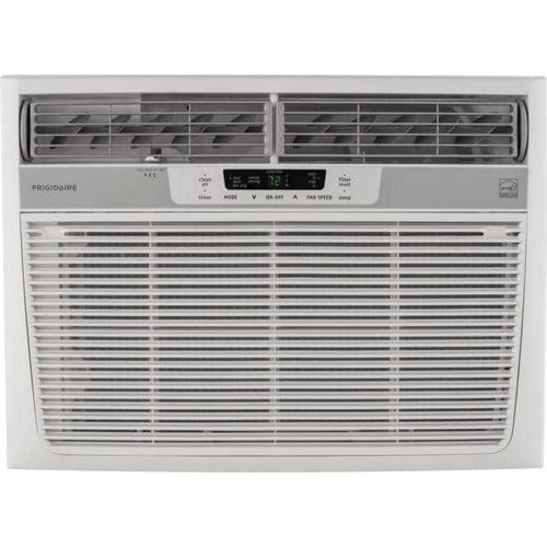 Frigidaire FFRE1533S1 15,100 BTU 115V Window-Mounted Median Air Conditioner with Temperature Sensing - White