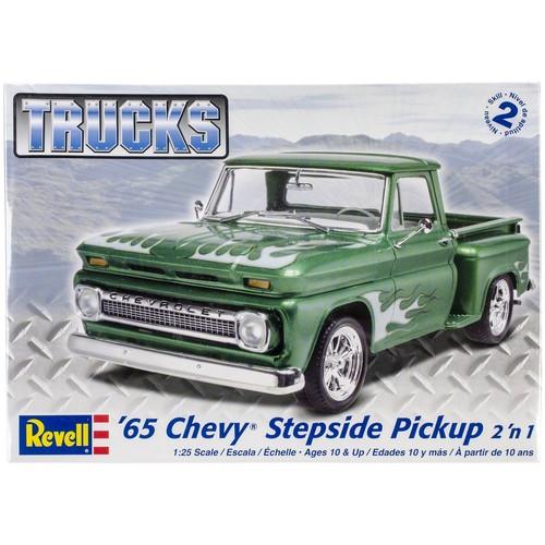 Revell of Germany Plastic Model Kit '65 Chevy Stepside Pickup 2-In-1 1:25