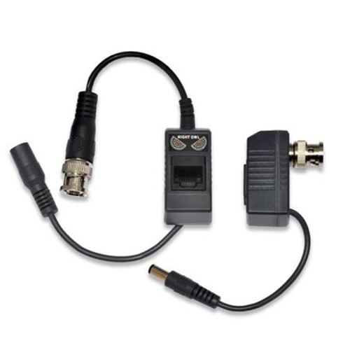 Night Owl Passive Video Balun Converter for Security CCTV Systems, Pair A-VB-POE-BNC