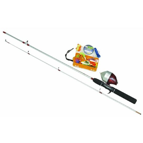 Zebco Spincast Fishing Rod & Reel Combo With Tackle Box - RTSCKH