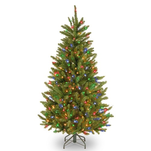 National Tree Company 4.5 ft. Natural Fraser Slim Fir Tree with Multicolor Lights
