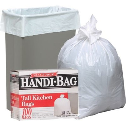 Webster Handi-Bag Trash Bags Super Value Pack, White, Assorted Sizes