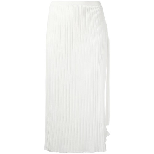 HELMUT LANG Pleated Straight Skirt