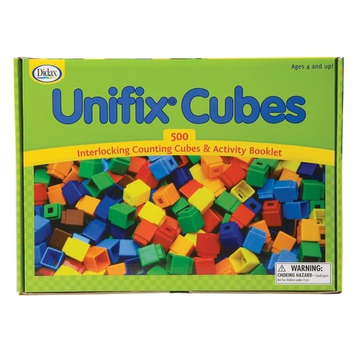 DIDAX Learning & Educational Toys UNIFIX Cube Set, 500/PK