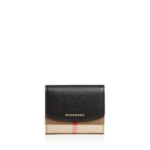 BURBERRY House Check Luna Leather Wallet