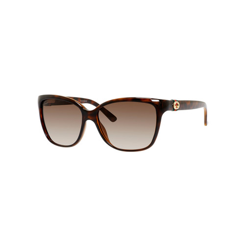 GUCCI Square Acetate Sunglasses, Havana