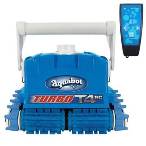 Aquabot Turbo T4 Remote Control In-Ground Pool Cleaner With Caddy