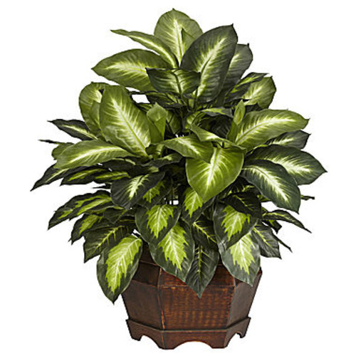 Nearly Natural Golden Dieffenbachia Silk Plant
