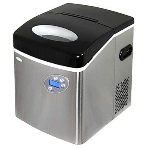 air AI-215SS Stainless Steel Portable Ice Maker with 50 Lbs. Daily Capacity [Black]