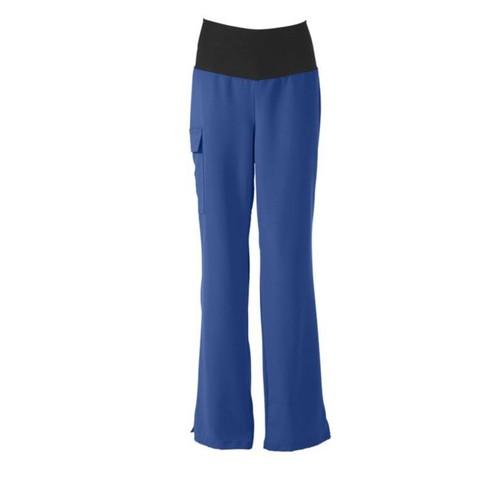 Ocean AVE Ladies Yoga Elastic Waist Scrub Pant, Royal Blue, XL