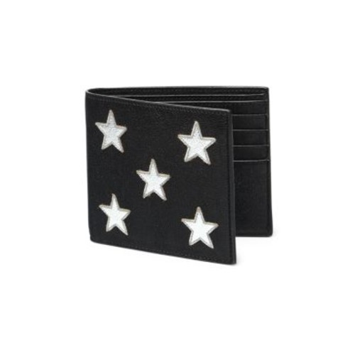 SAINT LAURENT Star Lambskin Leather Bifold Wallet