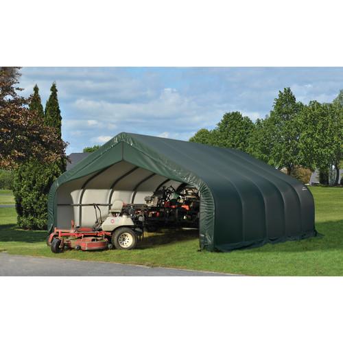 ShelterLogic 80024 Grey 18'x28'x12' Peak Style Shelter [Grey, 18'x28'x12']