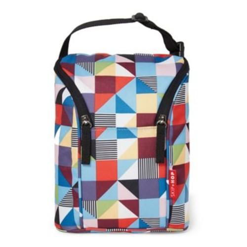 Skip Hop Grab & Go Double Bottle Bag in Prism Print