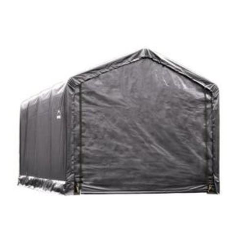 ShelterLogic ShelterTube 12 ft. x 20 ft. x 11 ft. Grey Steel and Polyethylene Garage without Floor