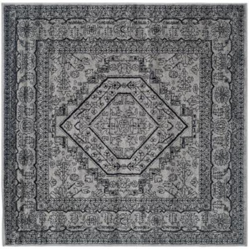 Safavieh Adirondack Silver/Black 10 ft. x 10 ft. Square Area Rug