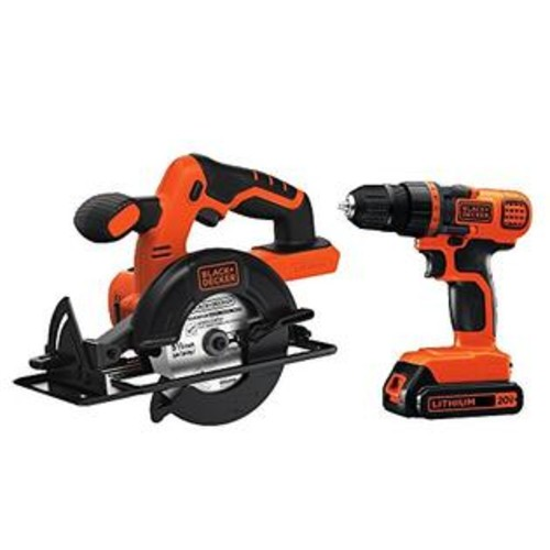 BLACK+DECKER Black & Decker BD2KITCDDCS 20V MAX Drill/Driver Circular Saw Combo Kit