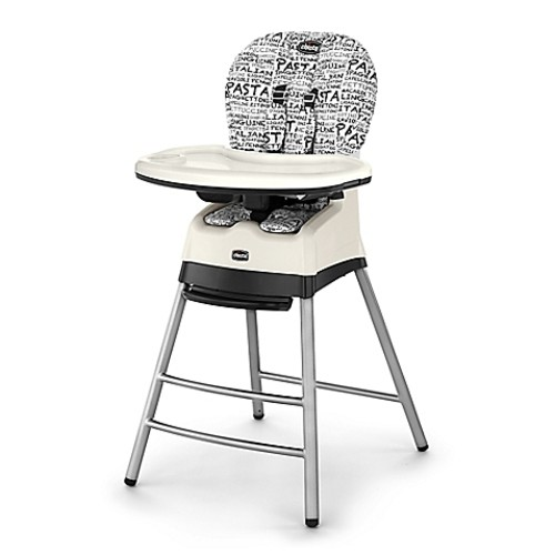 Chicco Stack 3-in-1 High Chair in Black/White