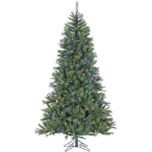 Fraser Hill Farm 9 ft. Pre-lit LED Canyon Pine Artificial Christmas Tree with 900 Multi-Color String Lights