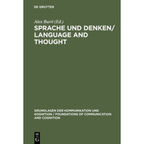 Sprache und Denken / Language and Thought