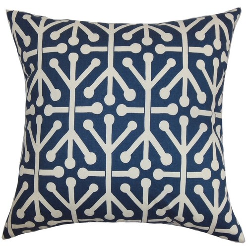 The Pillow Collection Pillowcases & Shams Heath Geometric Euro Sham Blue Natural