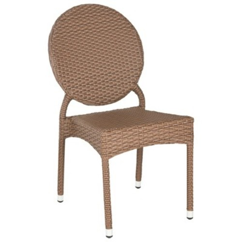 Maxine 2-Piece Wicker Patio Side Chair Set - Safavieh