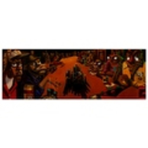 ''The Poker Game'' by Justin Bua African American Art Print (13.25 x 36 in.)