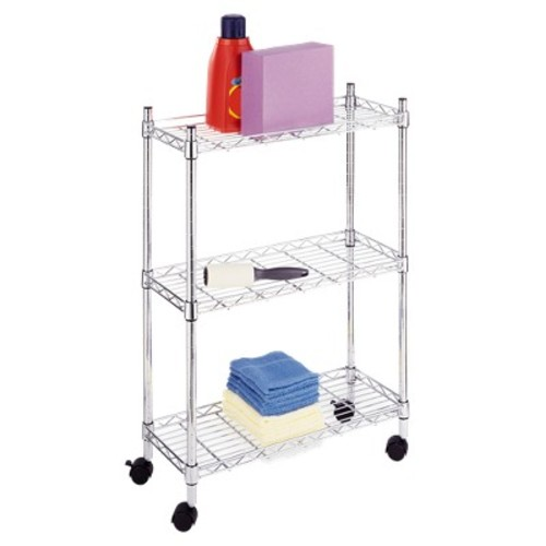 Supreme Laundry Cart, Chrome