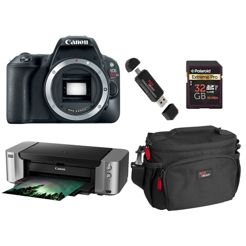 Canon EOS Rebel SL2 DSLR Camera Body with Pixma PRO-100 kit