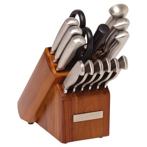 Sabatier 15 Piece Stainless Steel Hollow Handle Traditional Knife Block Set