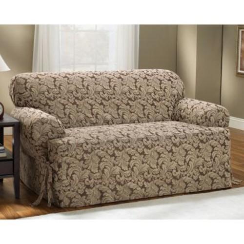Sure Fit Scroll Leaf T-Cushion Sofa Slipcover