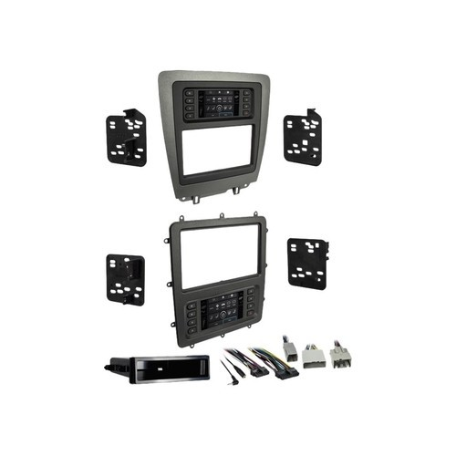 Metra - Dash Kit for Select 2010-2014 Ford Mustang Vehicles - Charcoal/matte black