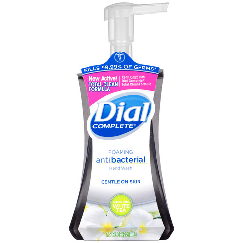 Dial Complete Hand Wash, Foaming, Antibacterial, Soothing White Tea, 7.5 fl oz (221 ml)