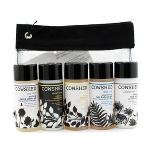 Pocket Cow Bath & Body Set: Shampoo + Conditioner + Soothing Shower Gel + Invigorating Shower Gel + Body Lotion + Ba
