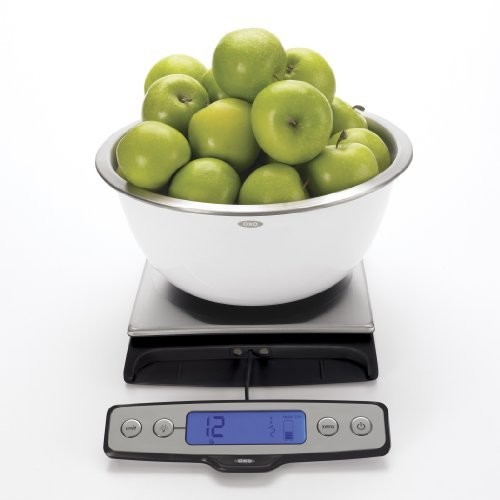 OXO Good Grips Stainless Steel Food Scale with Pull Out Display, 22-Pound: Digital Kitchen Scales: Kitchen & Dining [22 Pound Scale]