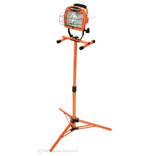 Woods L-10 500-Watt Adjustable Work Light with Telescoping Tripod Stand, Halogen