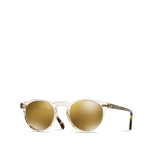 Gregory Peck Mirrored Round Sunglasses, 47mm