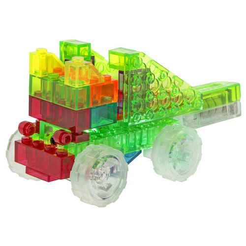 Laser Pegs Plastic 4-in-1 Lighted Mini Bulldozer Construction Toy