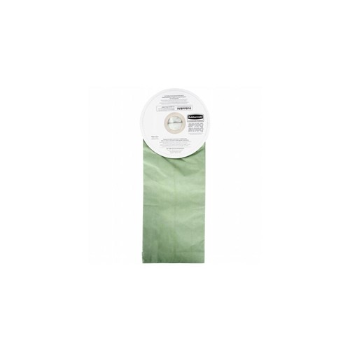 Rubbermaid Commercial Products 9VBPPB10CT Vacuum Bags For Rubbermaid Backpack Vacuum Cleaners, Paper - Green