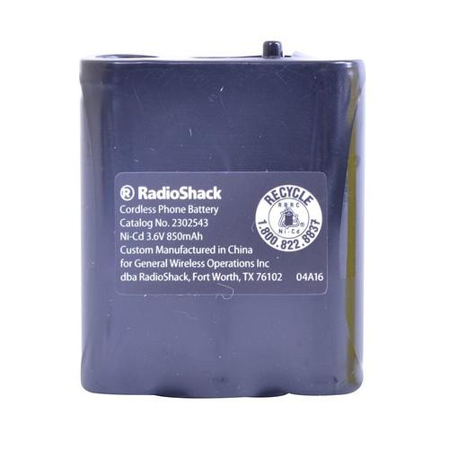 RadioShack 3.6V/850mAh NiCd Rechargeable Phone Battery