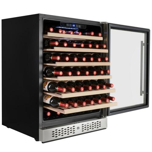 AKDY 23.5 in. 54-Bottle Built-in Compressor Wine Cooler